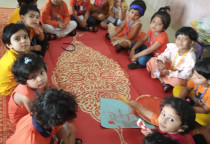 Orange Day Comb Printing-Activity(Nursery)