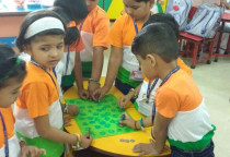 Tri Colour Day Coin Printing Activity(Jr.KG)