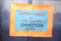 Express Yourself In 1 Minute(Jr.KG)