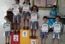 Winners Of Ice Cream Stick Competition(Sr. KG)