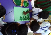Green Day Leaf Printing(Nursery)