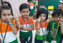 Tri Colour Clay Band Making Activity(Jr.KG)