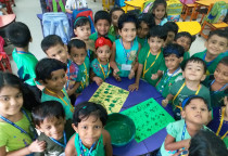 Green Day-Leaf Printing Activity(Jr. KG)