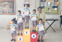 Winners Of Incredible India Competition(Jr.KG)
