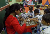 Paper Tearing Activity(Nursery)