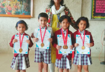 Winners Of  Handwriting Competition(Jr. KG)