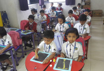 Brush Painting Activity(Jr.KG)