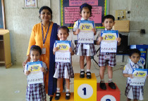 Winner Of Best Out Of Waste Competition(Nursery)