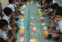Garland Making Activity(Jr.KG)