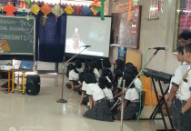 Spl.Assembly On National Youth  Day  By Grade 5