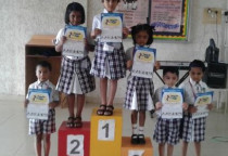 Winners Of Fun With Icecream Sticks Competition(Sr.KG)
