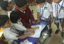 Paper Sticking Activity(Jr.KG)