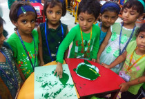 Green Day Leaf Printing-Jr.KG